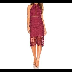 New with Tags Bardot Gemma Lace Dress in Burgundy